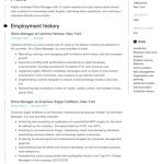 Online Store Manager Resume Sample 5