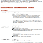 Payroll Specialist Resume Example 1