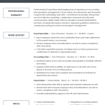 Payroll Specialist Resume Example 4
