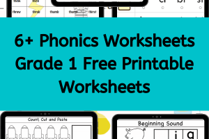 Phonics Worksheets Grade 1