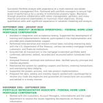 Portfolio Analyst Resume Example 5