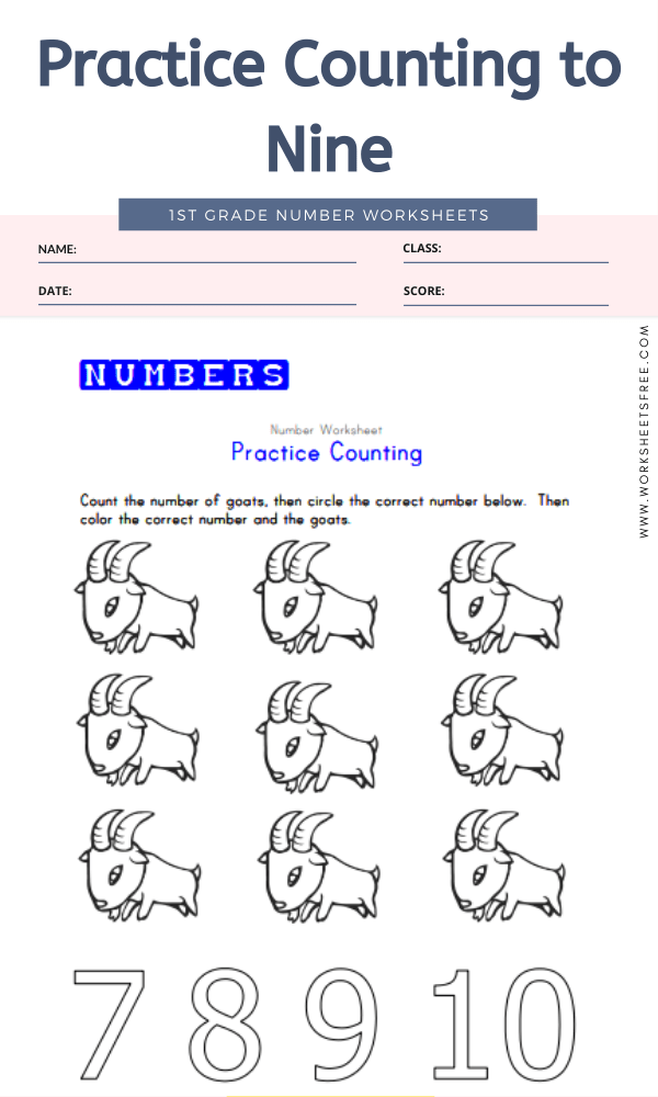 Practice Counting to Nine