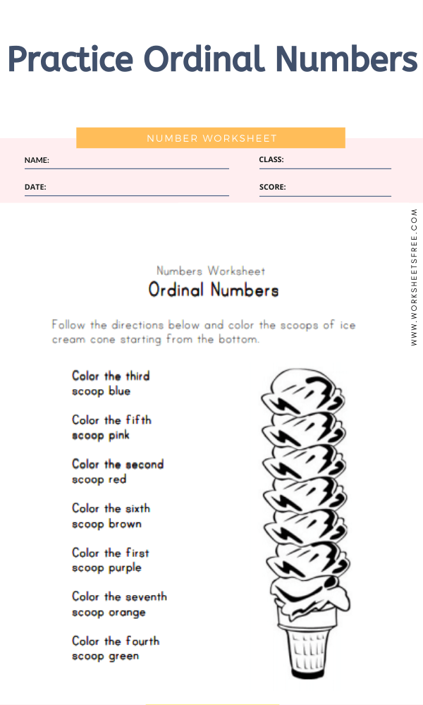 Practice Ordinal Numbers