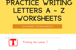Practice Writing Letters A - Z Worksheets