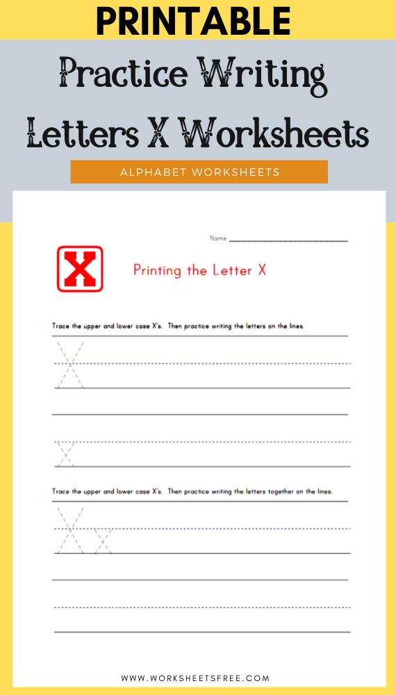 Practice-Writing-Letters-X-Worksheets