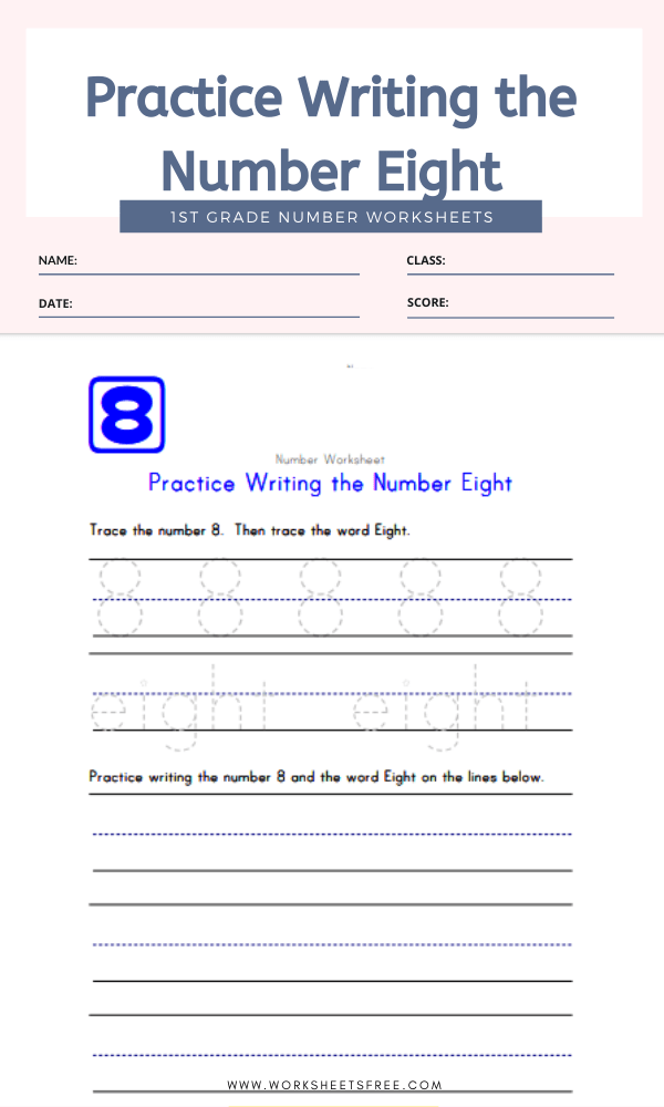 Practice Writing the Number Eight