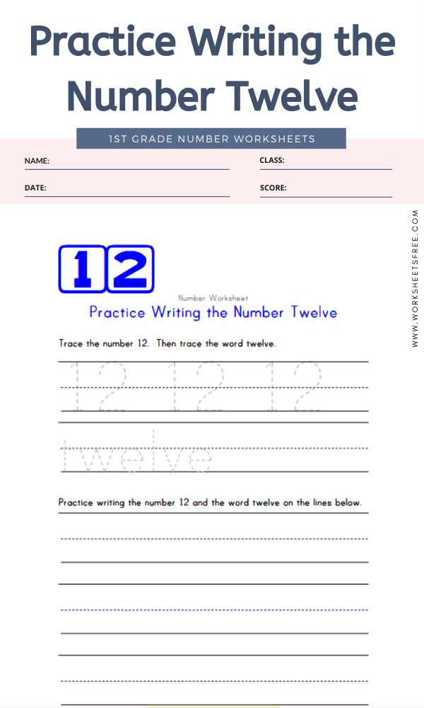 Practice Writing the Number Twelve