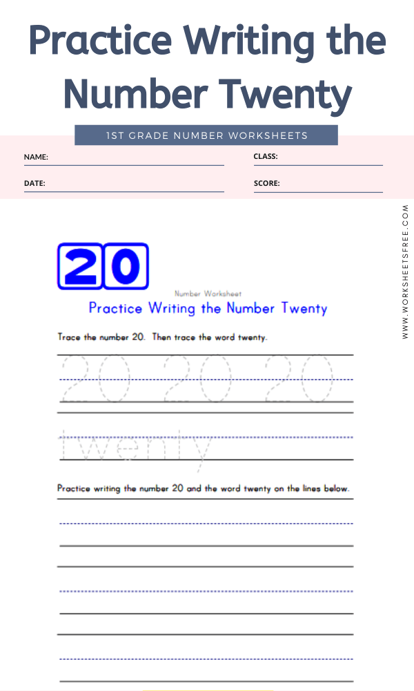 Practice Writing the Number Twenty