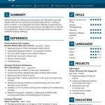 Printer Technician Resume Sample 1