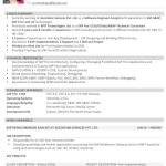 SAP UI5 Fiori Consultant Resume Sample 3