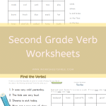 Second Grade Verb Worksheets
