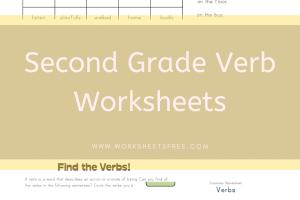 Second Grade Verb Worksheets