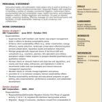 Senior Analyst Resume Sample 1