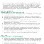 Senior Analyst Resume Sample 2