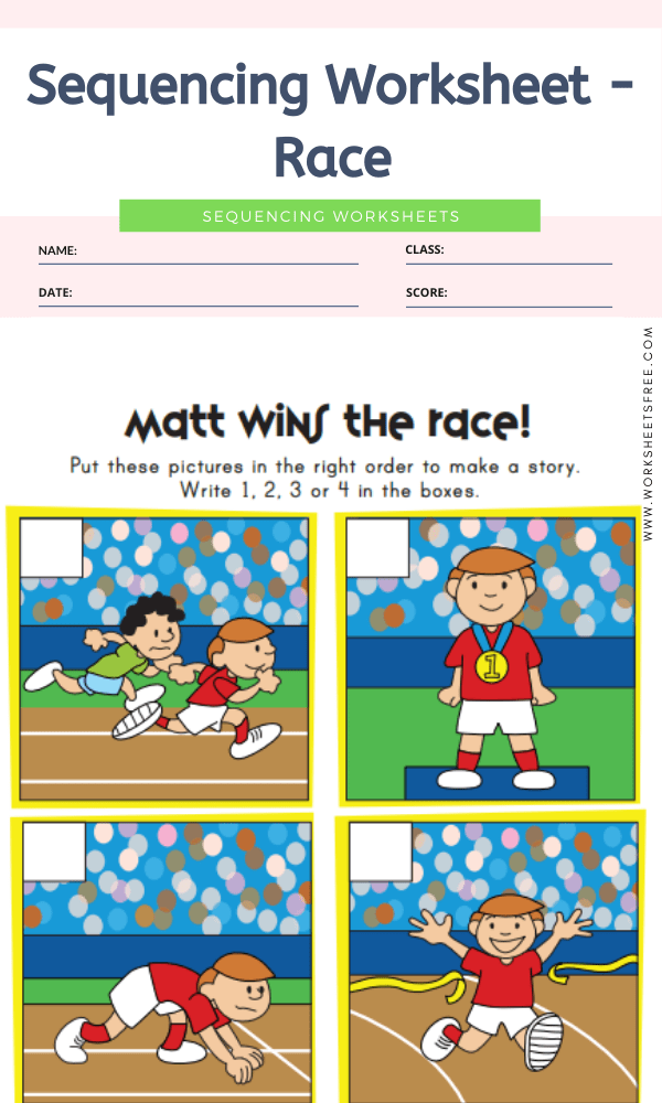 Sequencing Worksheet - Race