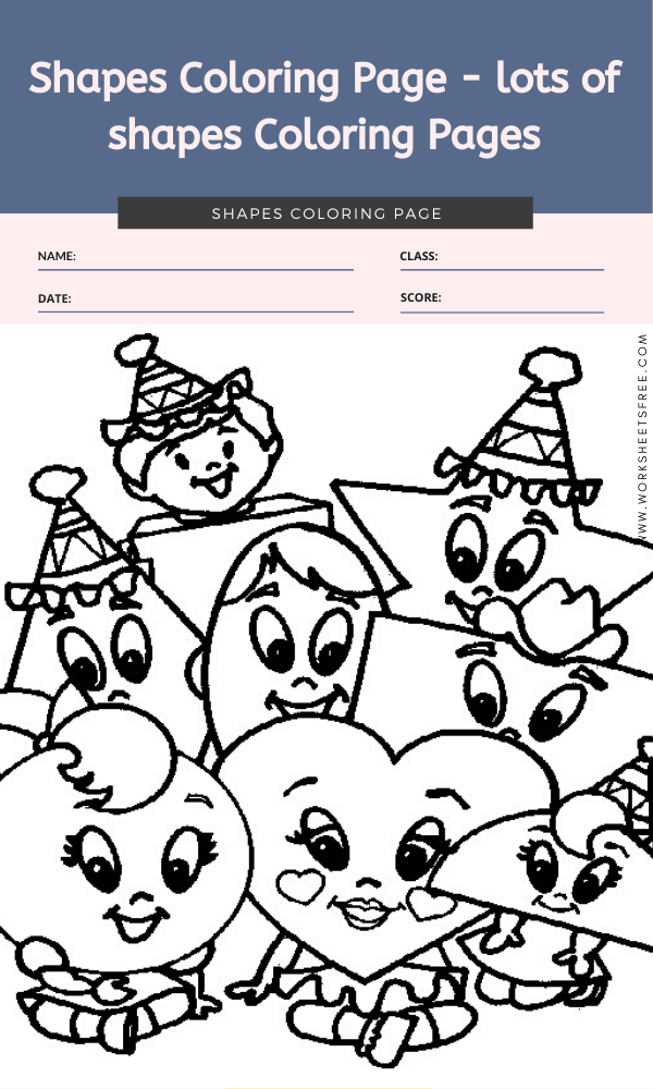Shapes Coloring Page - lots of shapes coloring