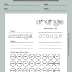 Sight Word Worksheets First Grade 12