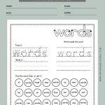 Sight Word Worksheets First Grade 7