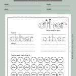 Sight Word Worksheets First Grade 9