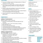 Software Testing Resume Sample 2