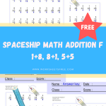 Spaceship Math Addition F