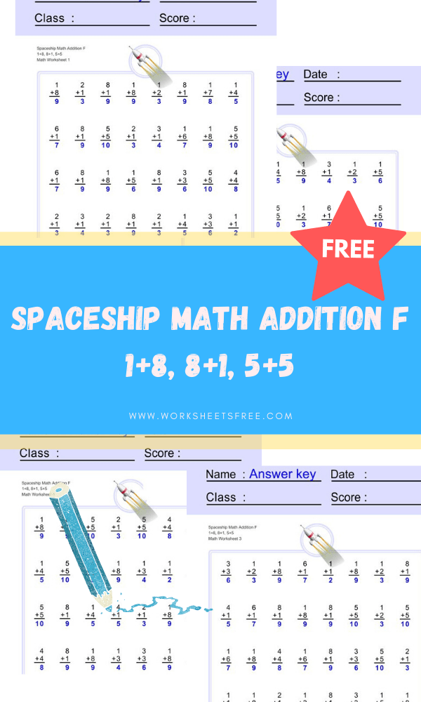 Spaceship Math Addition F