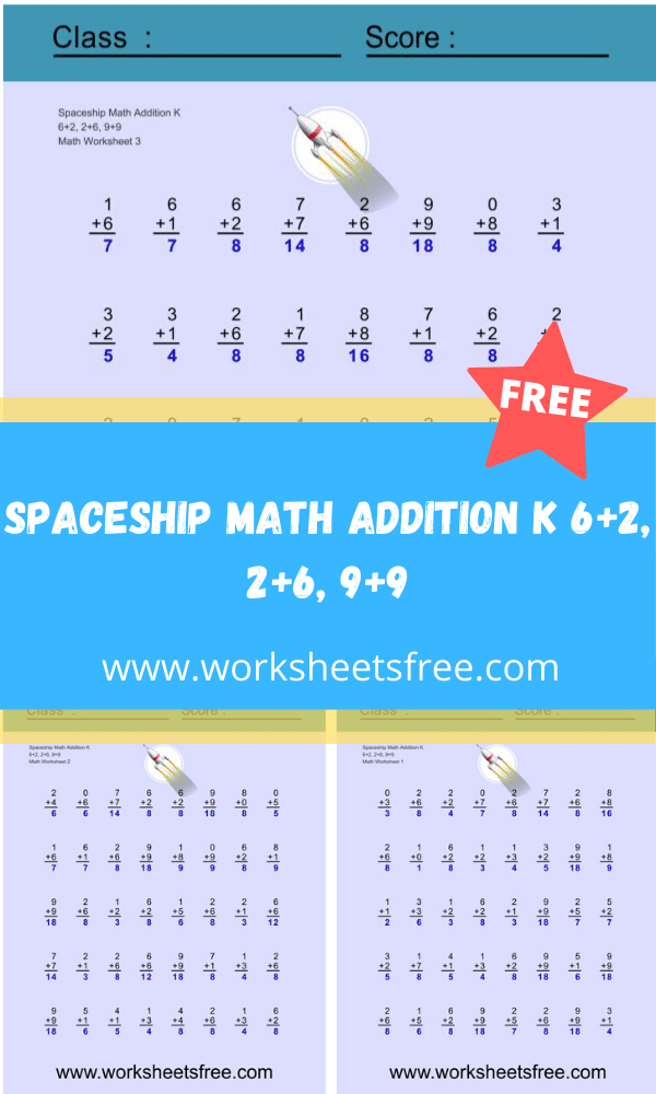 Spaceship Math Addition J