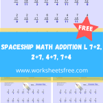Spaceship Math Addition L