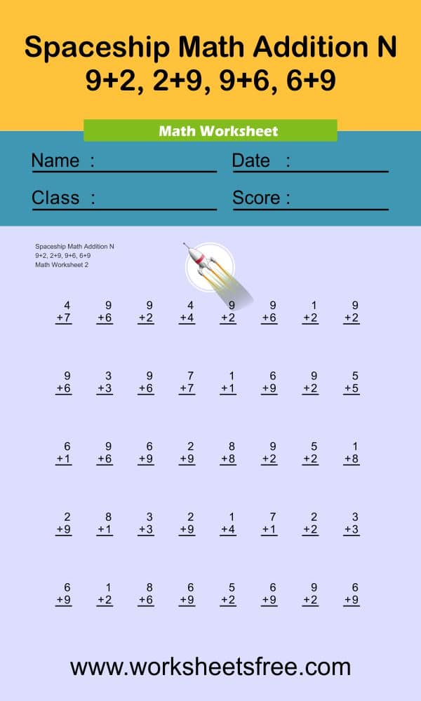 Spaceship Math Addition N 2