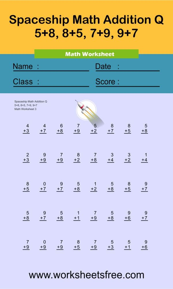 Spaceship Math Addition Q 3