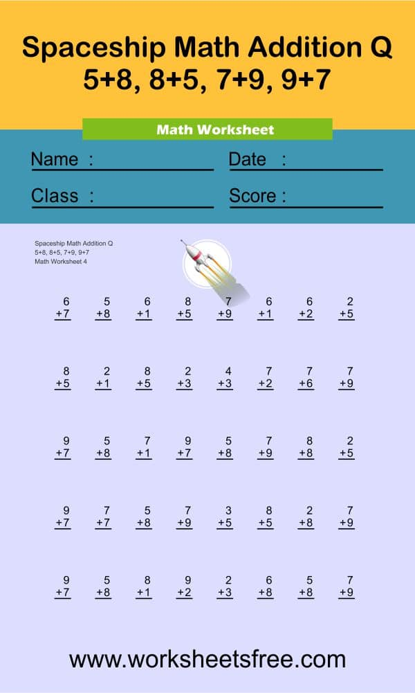 Spaceship Math Addition Q 4