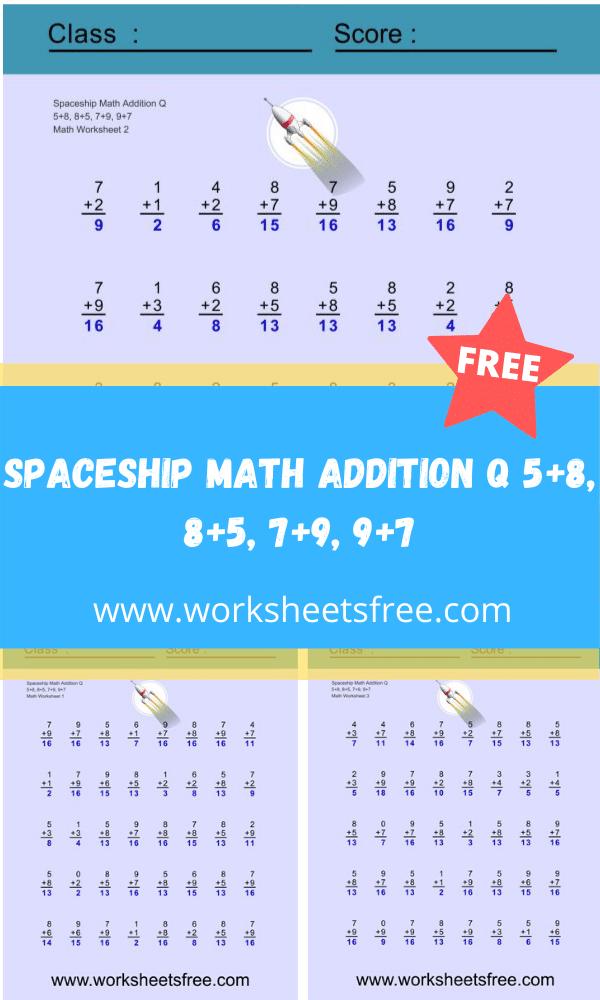 Spaceship Math Addition Q