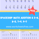 Spaceship Math Addition Q