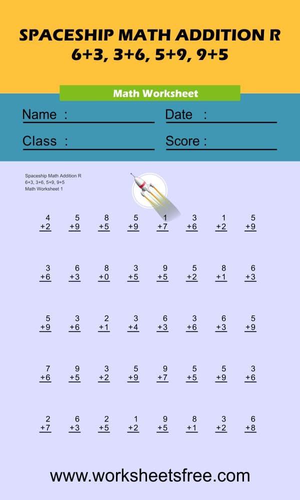 Spaceship Math Addition R 1
