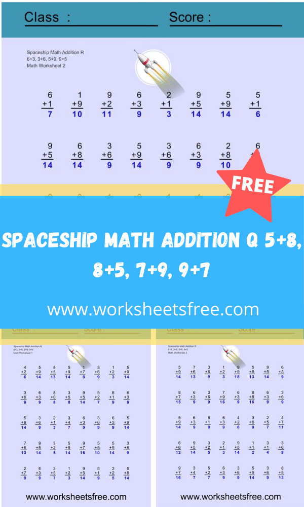 Spaceship Math Addition R