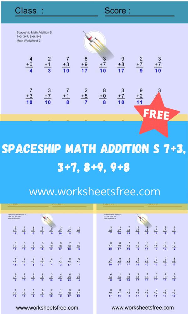 Spaceship Math Addition S