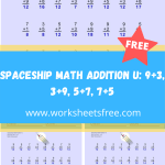 Spaceship Math Addition U