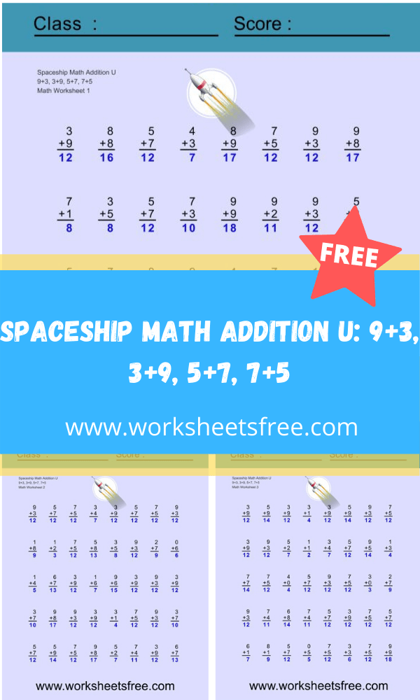 Spaceship Math Addition U