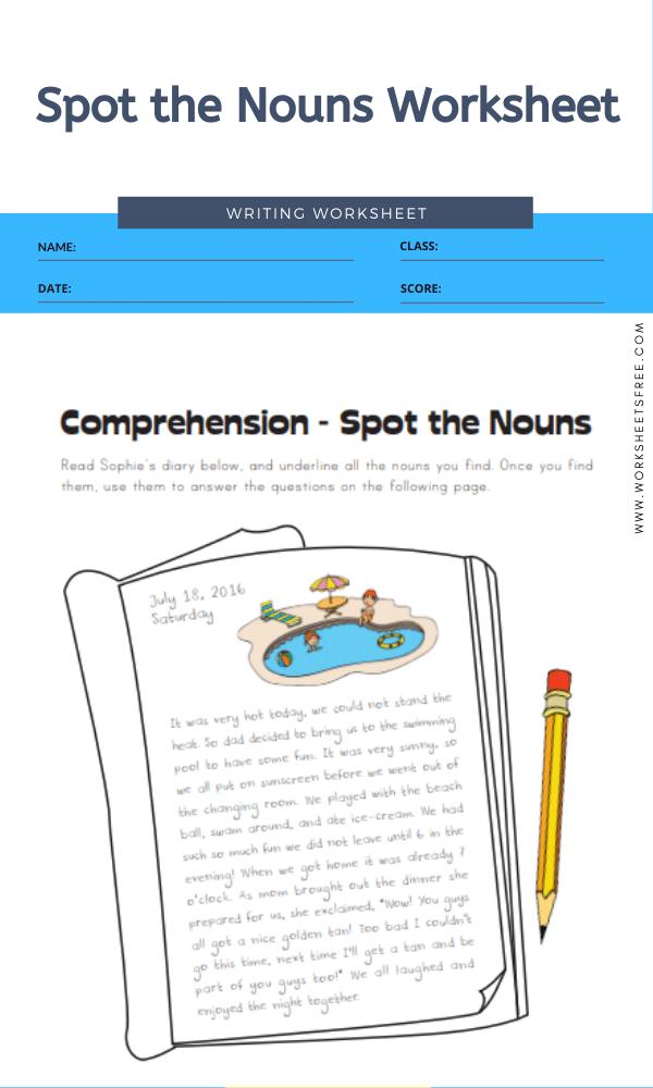 Spot the Nouns Worksheet