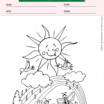 Spring Coloring Page 2
