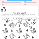 Spring Find and Count Worksheet