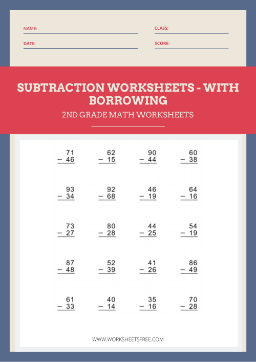 small resolution of Subtraction With Borrowing Worksheet 2   Worksheets Free
