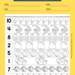 Summer Counting Practice Worksheet 2