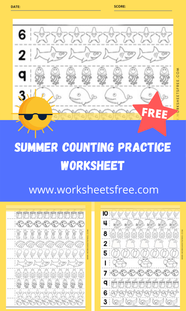 Summer Counting Practice Worksheet