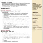 Technical Designer Resume Sample 3