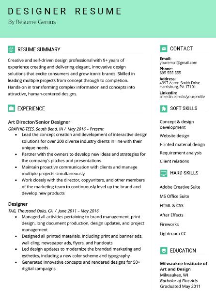 Technical Designer Resume Sample 4
