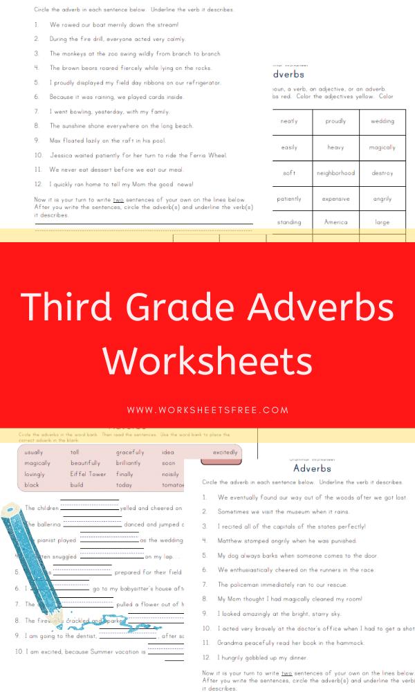 Third Grade Adverbs Worksheets