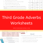 Third Grade Adverbs Worksheets