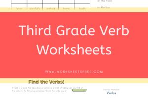 Third Grade Verb Worksheets