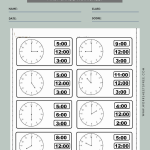 Time To The Hour Worksheet 1